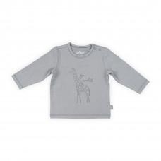 Grijs t-shirtje met giraf- Safari grey