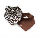 Set zeverslabbetjes - leopard naturel