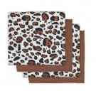 Set van 4 tetradoeken - leopard natural