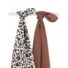 Set van 2 xl tetradoeken - leopard natural