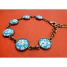 Armband met blauwe flower power