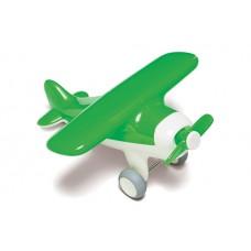 Groen vliegtuig met propeller