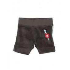 Grijsbruine babyshort -  terry shorts grey : maat 62