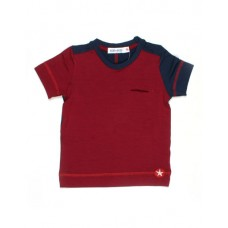 Bordeau- blauwe t- shirt - shirt modal :maat 62
