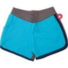 Turquoise met bruin shortje - blue grey short : maat 80