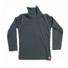 Grijze rolkraag t-shirt t-shirt turtle single dark grey