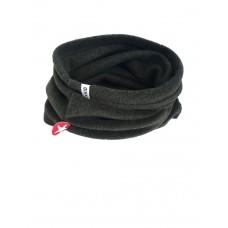 Antracietkleurige kraagsjaal - fleece black