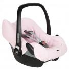 Licht roze universele hoes voor draagbare autostoel (Geboortelijst Billie De Cort)