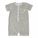 Zomers sponsen kruippakje - jumpsuit mouse grey