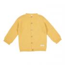 Okergeel gebreid truitje -cardigan corn yellow