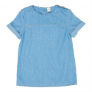 Jeanskleedje met stipjes - dotty days soft denim