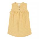 Okergeel gestreept kleedje - dress linescape corn yellow  - maat 50-56 (Geboortelijst Florien M.)