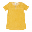 Okergeel sponsen kleedje - babydress soft sunrise - maat 62-68 (Geboortelijst Lou V.)