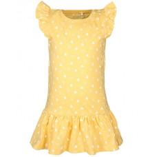 Geel kleed met hartjes - nmfvida dress pale marigold