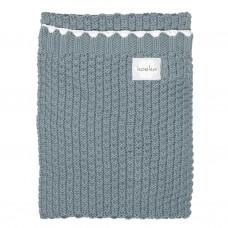 Saffierkleurig gebreid deken voor kinderbed/ ledikant - Valencia
