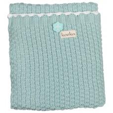 Muntkleurig gebreid deken voor kinderbed/ ledikant - Valencia