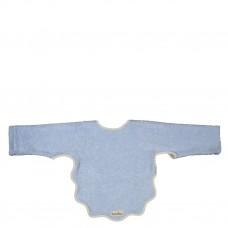 Jeanskleurige slab met mouwen- Venice soft blue