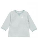 Saffierkleurig gestreepte babyshirtje - palm beach shirt soft sapphire
