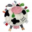 Knuffel- en labeldoekje lieve koe