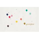 Wenskaart met kleurrijke ballonnen - groot feest