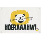Wenskaart met leeuw - hoeraaahw!