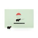 Wenskaart nijlpaard - hippo hippo hoera + rubber nijlpaardje