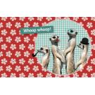 Wenskaart met stokpaardjes - whoop whoop whoop
