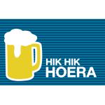 Wenskaart met pintje bier - Hik hik hoera