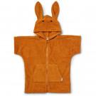 Mosterdkleurige badjas konijn - Lela cape bathrobe rabbit mustard