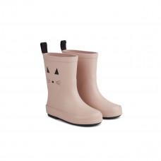 Oudroze regenlaarzen met kattensnoetje - Rio rain boot cat rose