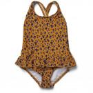 Amara swimsuit - Mini leo/mustard