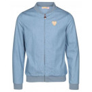 Blauwe jeans bomber - Jeans blue may