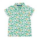 Shirt Jeff aop Jungle  hemdje met tropische print - maat 62 (Geboortelijst Finn D.B.)
