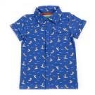 Shirt Jeff aop Surfers - Hemdje met surfers - maat 128 (Geboortelijst Fran S.)