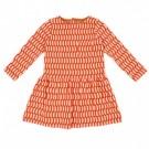 Kleedje met rode blokjes - Fiona dress blocks red