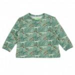 Baby shirt met paddenstoelen en wolven - Francis wolves shirt green