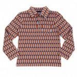 Polo t-shirt met blauwe blokjes - Jack polo shirt blocks blue  (stapelkorting)