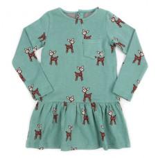 Jade jacquard kleedje Fiona met hertjes - Dress fiona deer