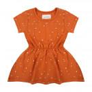 Roestkleurig kleedje met vlekjes - Dress dots bombay brown