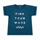 Petrolkleurig t-shirt find your wave - Shirt find your wave legion blue  (stapelkorting)