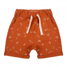 Roestkleurige short met streepjes - Short sticks bombay brown  (stapelkorting)