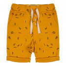 Okergele short met streepjes - Short sticks summer flower  (stapelkorting)