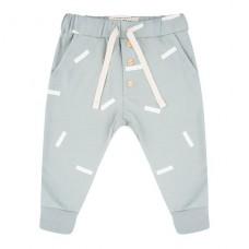 Grijsblauw broekje met rechthoekjes - pants strokes arona