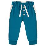 Petrol broekje met bies - Sporty pants blue