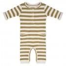 Olijfgroen gestreept kruippakje - jumpsuit olive stripe