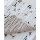 Hydrofiel deken met dieren - Cotton muslin forest friends
