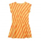 Geel- oranje gestreept kleed  Ruby sleevedress candy stripes