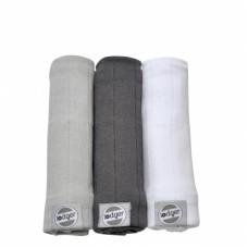 Set van drie zachte tetradoeken - mist/ carbon /white