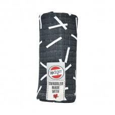 XL tetra doek donkergrijs met witte kruisjes- carbon