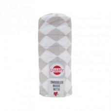 XL tetra doek met taupe ruitjes - swaddler shell